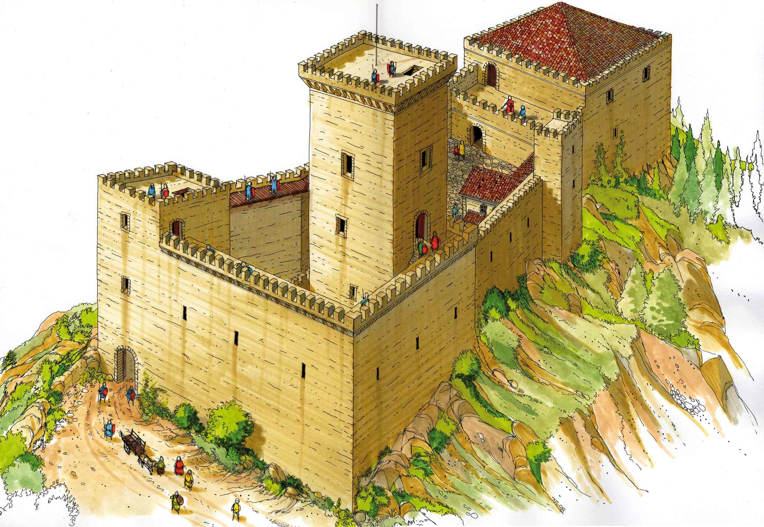 castello-di-carpineti-ricostruito-dal-disegnatore-Tiziano-Dorta